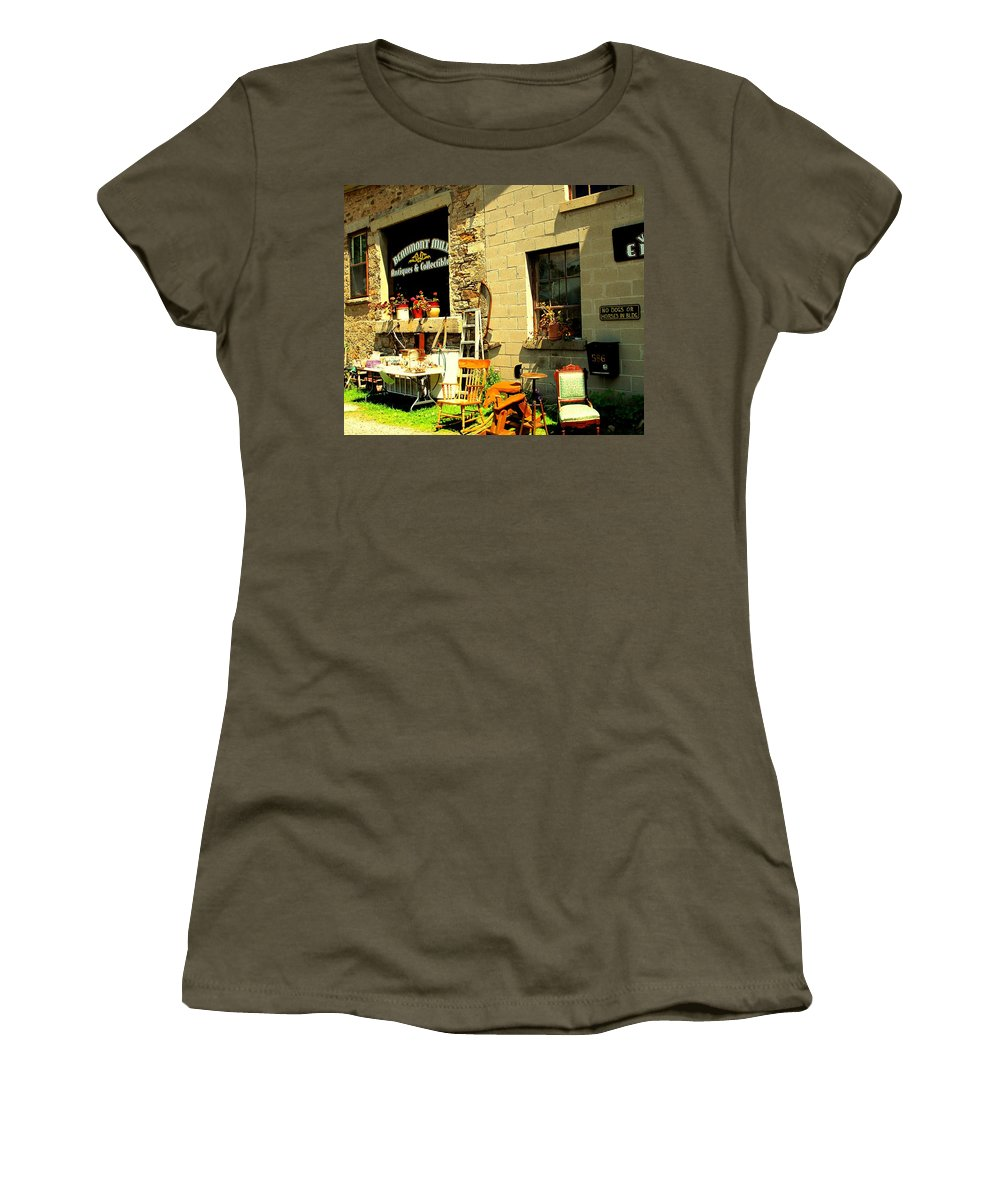 Antique Women's T-Shirt (Athletic Fit) featuring the photograph The Antique Store by Ian MacDonald