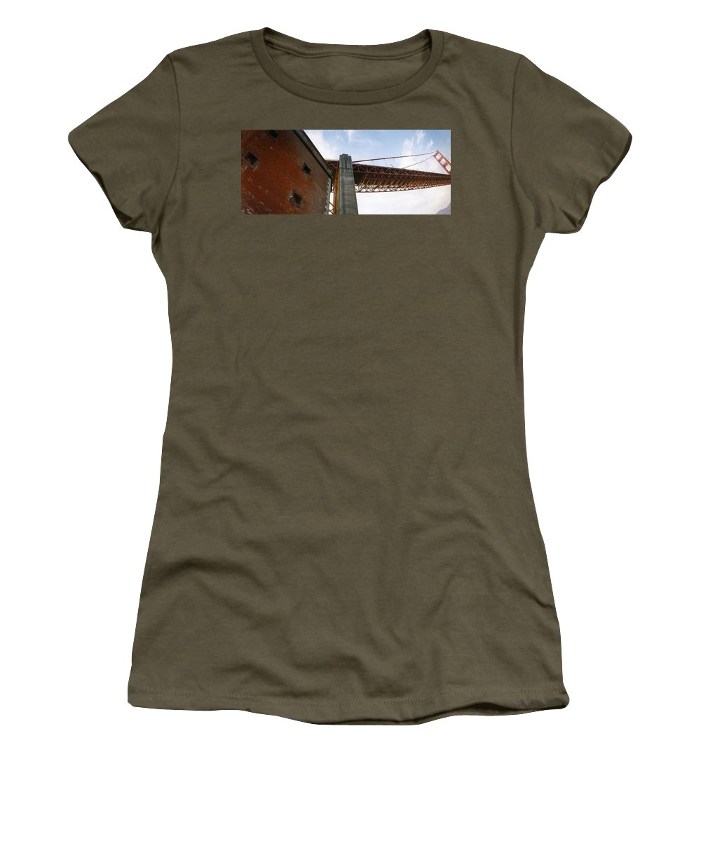 Fort Point Women's T-Shirt featuring the photograph The Ballet Of Red by Patty Sokolecki-Smoot