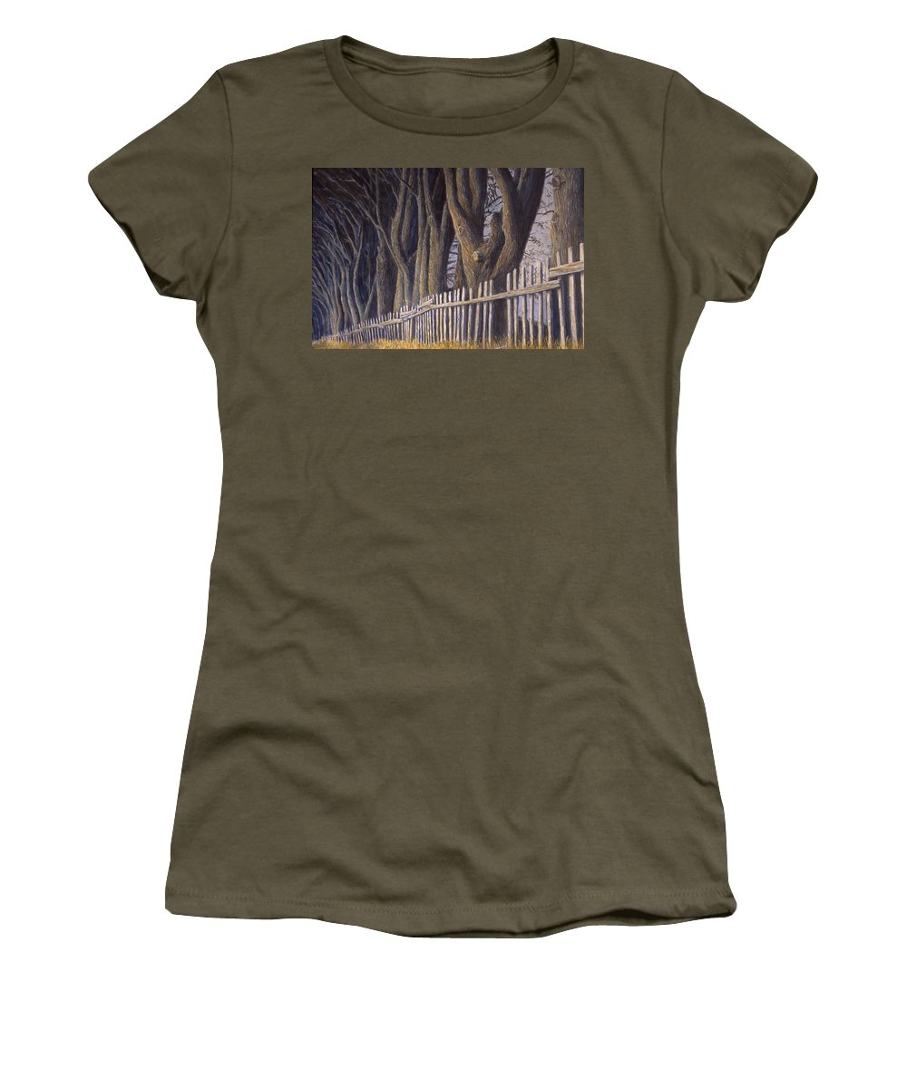 Bird House Women's T-Shirt featuring the painting The Bird House by Jerry McElroy