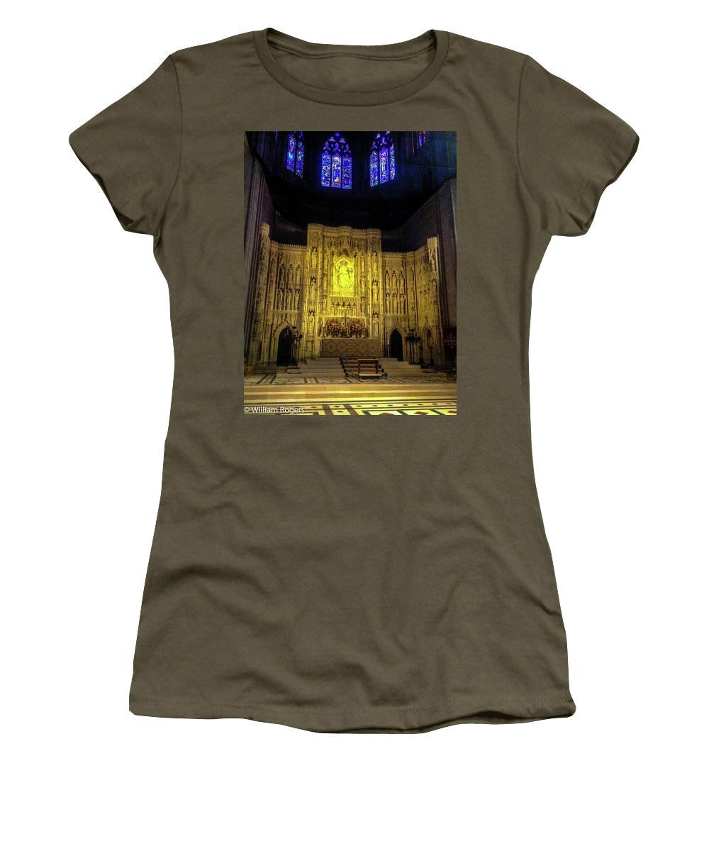 The Cathedral Church Of Saint Peter And Saint Paul In The City And Diocese Of Washington Women's T-Shirt featuring the photograph The Cathedral Church Of Saint Peter And Saint Paul by William Rogers
