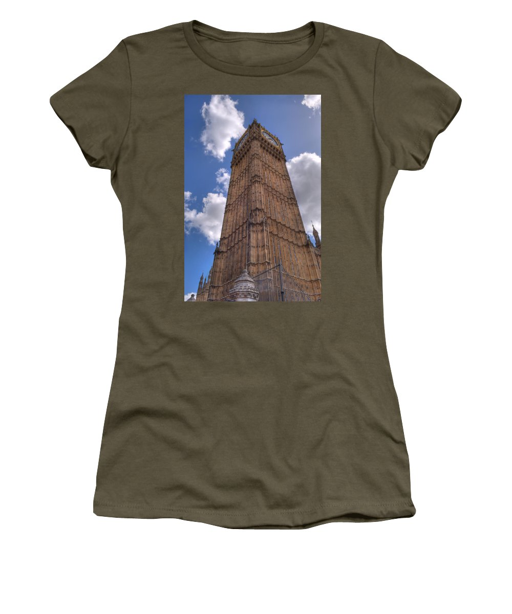 Big Ben Women's T-Shirt featuring the photograph The Clock Tower by Chris Day
