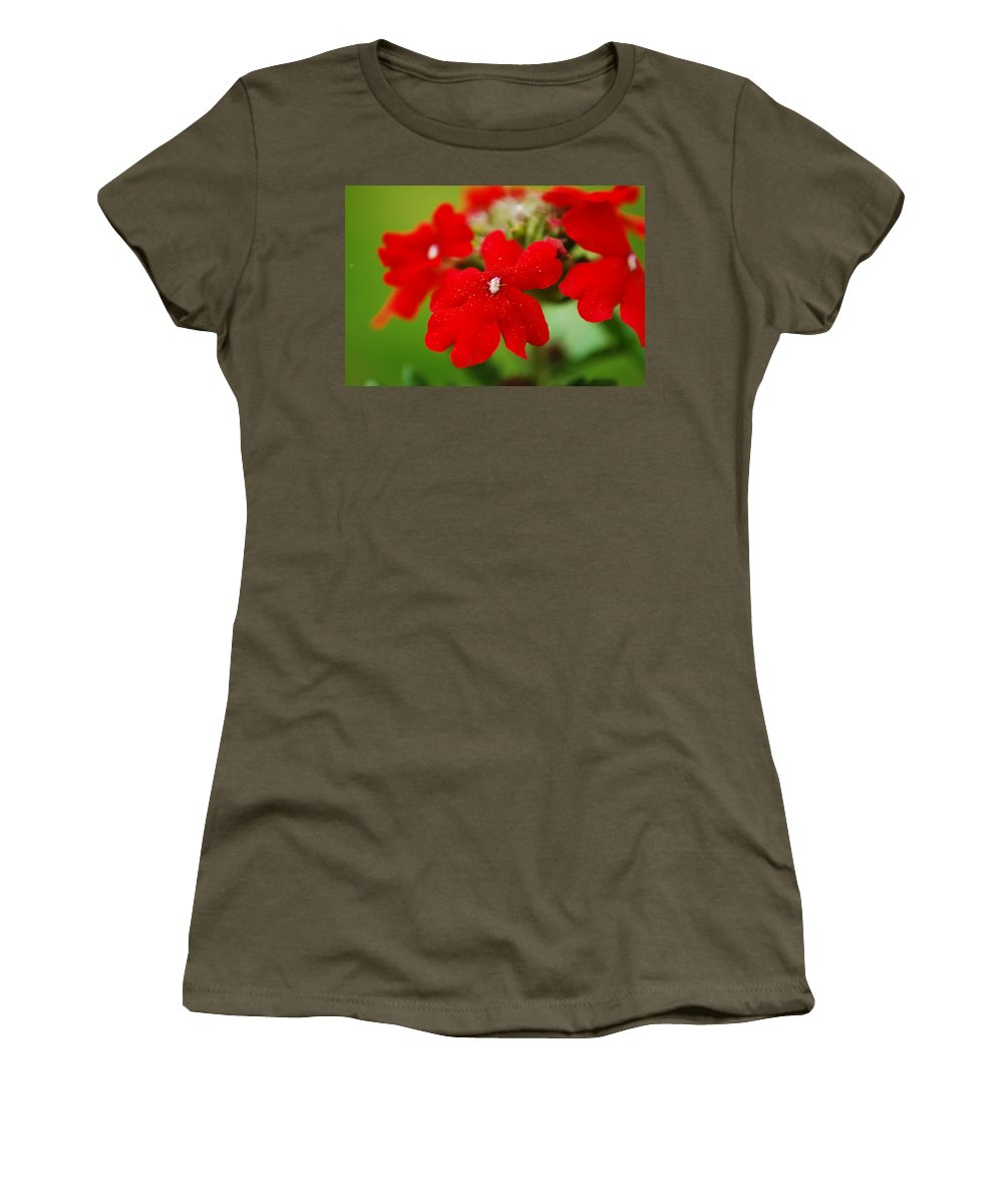 Verbena Women's T-Shirt featuring the photograph The Color Of Love by Lori Tambakis