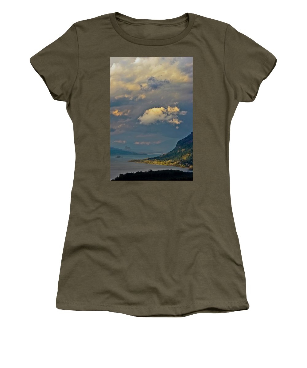 Oregon Women's T-Shirt (Athletic Fit) featuring the photograph The Columbia Gorge by Albert Seger