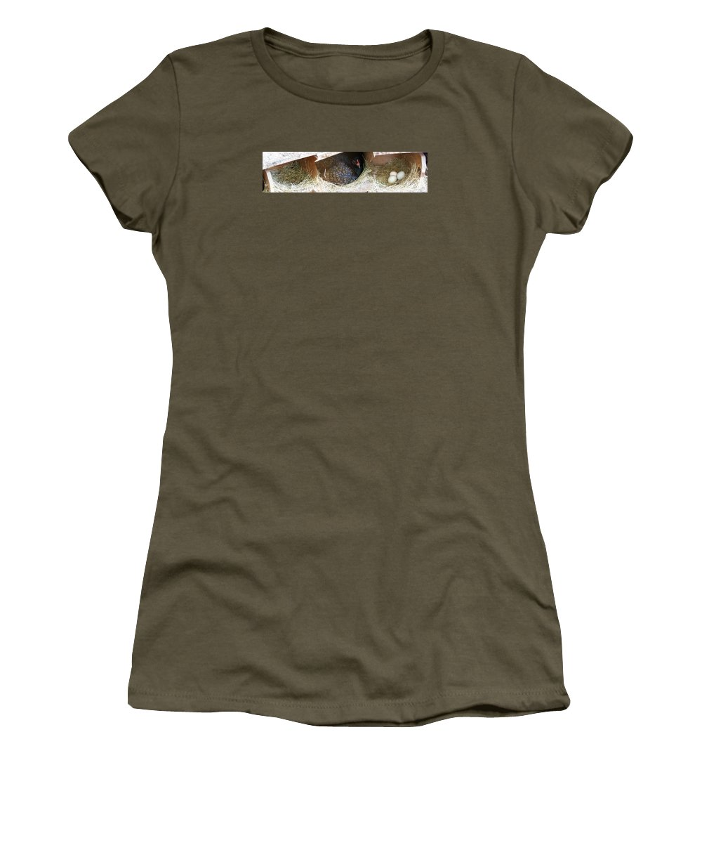 Digital Photography Artwork Women's T-Shirt (Athletic Fit) featuring the photograph The Coup by Laurie Kidd