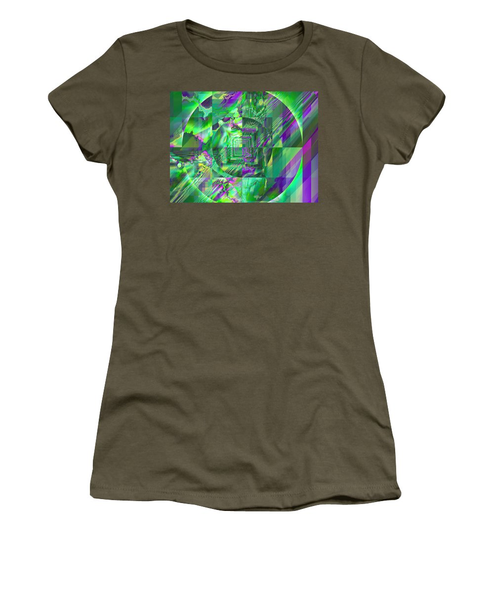 Fractal Women's T-Shirt (Athletic Fit) featuring the digital art The Crazy Fractal by Frederic Durville