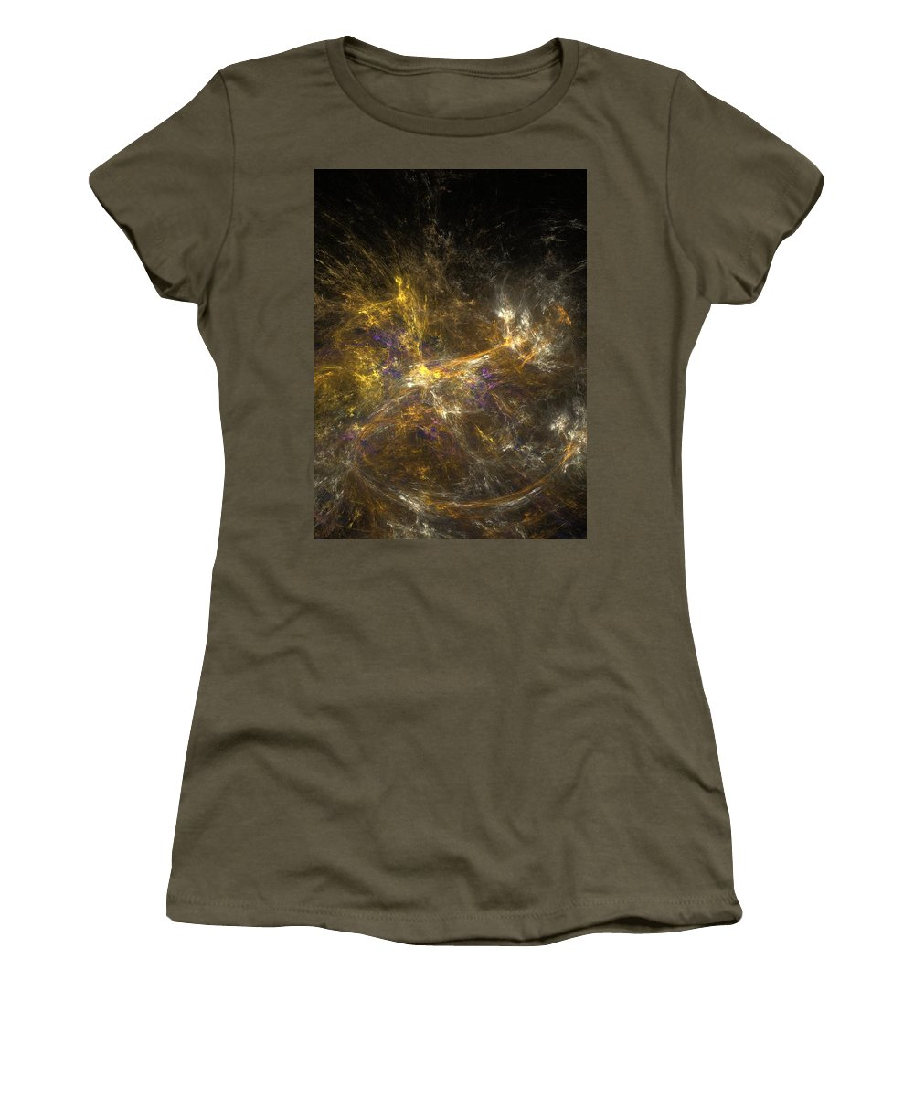Abstract Digital Photo Women's T-Shirt (Athletic Fit) featuring the digital art The Dance 3 by David Lane