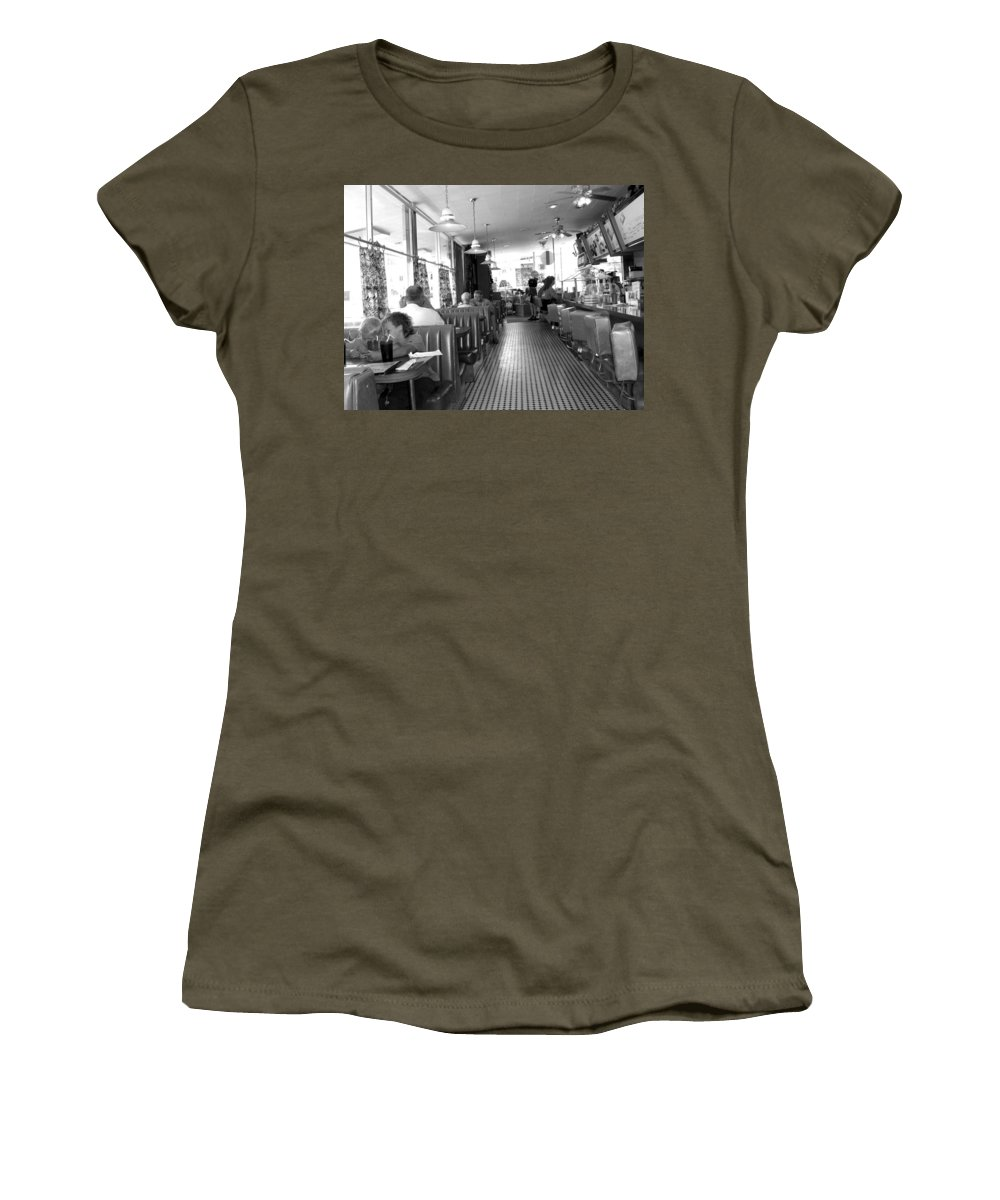 Diner Women's T-Shirt featuring the photograph The Diner by Wayne Potrafka