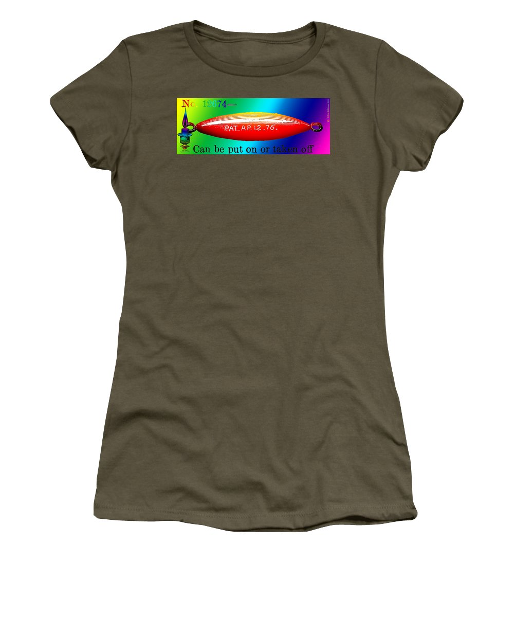 Dirigible Women's T-Shirt (Athletic Fit) featuring the digital art The Dirigible Sinker by Eric Edelman