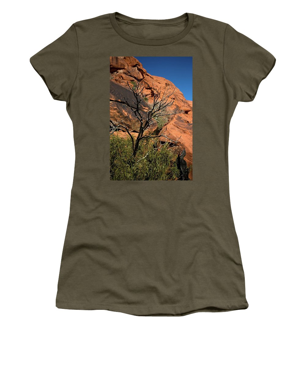 The Effects Of Heat Women's T-Shirt featuring the photograph The Effects Of Heat by Chris Brannen