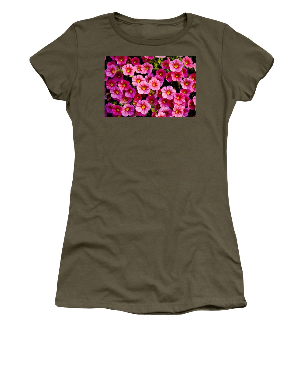 Flowers Women's T-Shirt featuring the photograph The Eyes by Greg Fortier