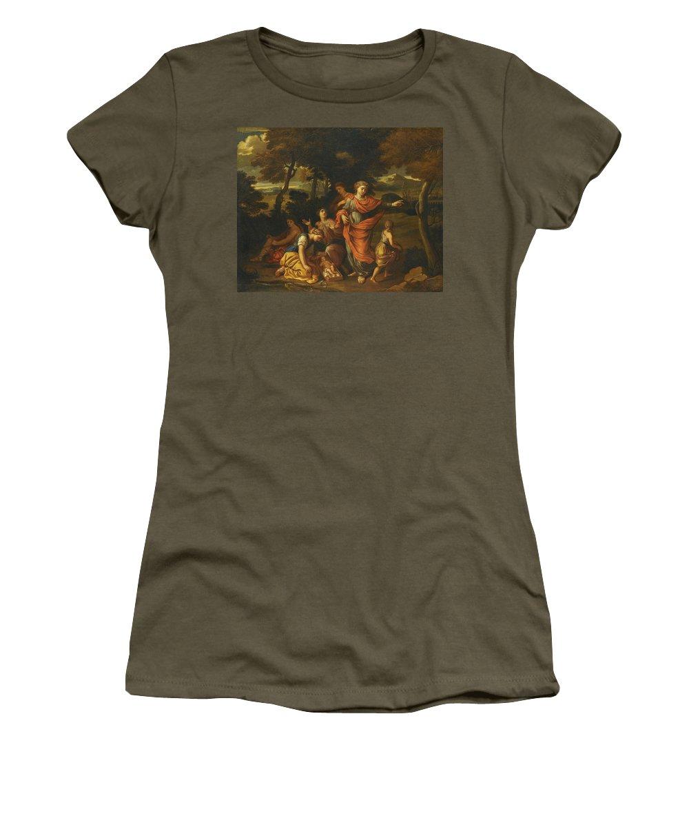Joseph Parrocel Women's T-Shirt featuring the painting The Finding Of Moses by Joseph Parrocel