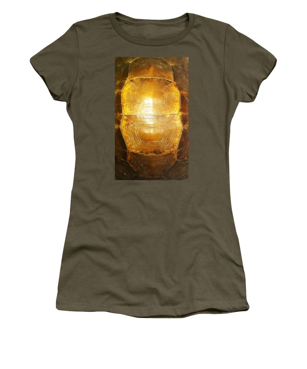 The Women's T-Shirt featuring the photograph The Galleon by Mike Russell