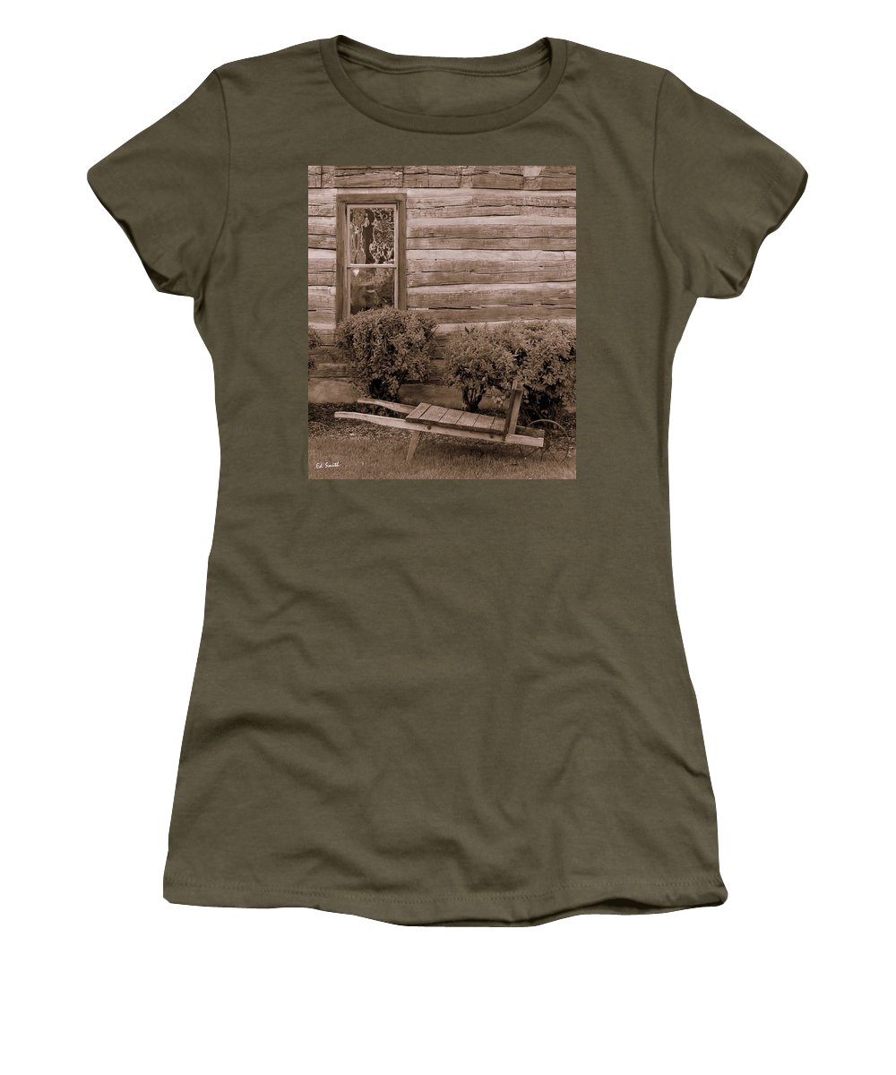 The Gardener Women's T-Shirt featuring the photograph The Gardener by Ed Smith