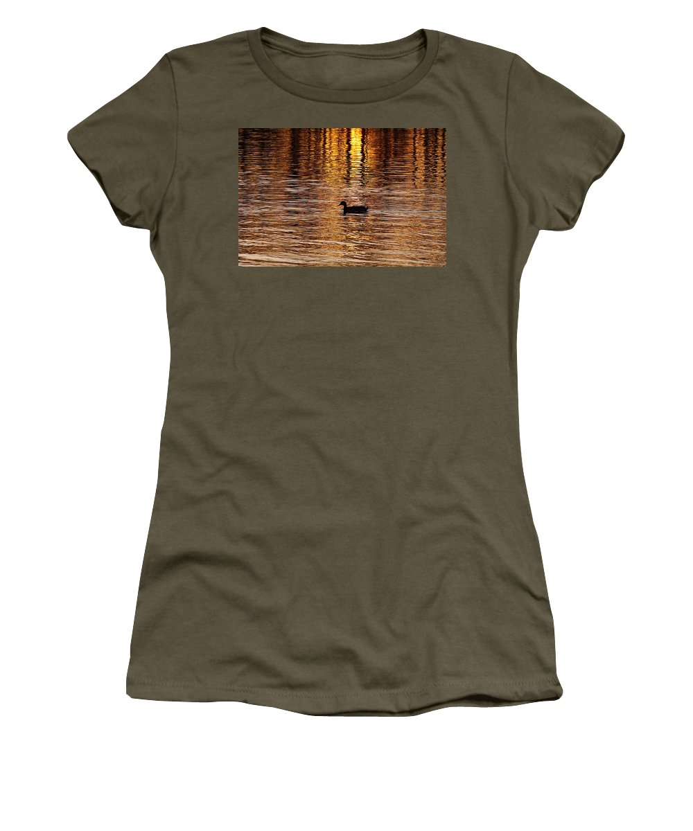 Water Women's T-Shirt featuring the photograph The Golden Hour by Robert Pearson