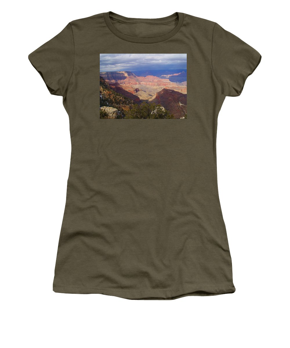 Grand Canyon Women's T-Shirt (Athletic Fit) featuring the photograph The Grand Canyon by Marna Edwards Flavell
