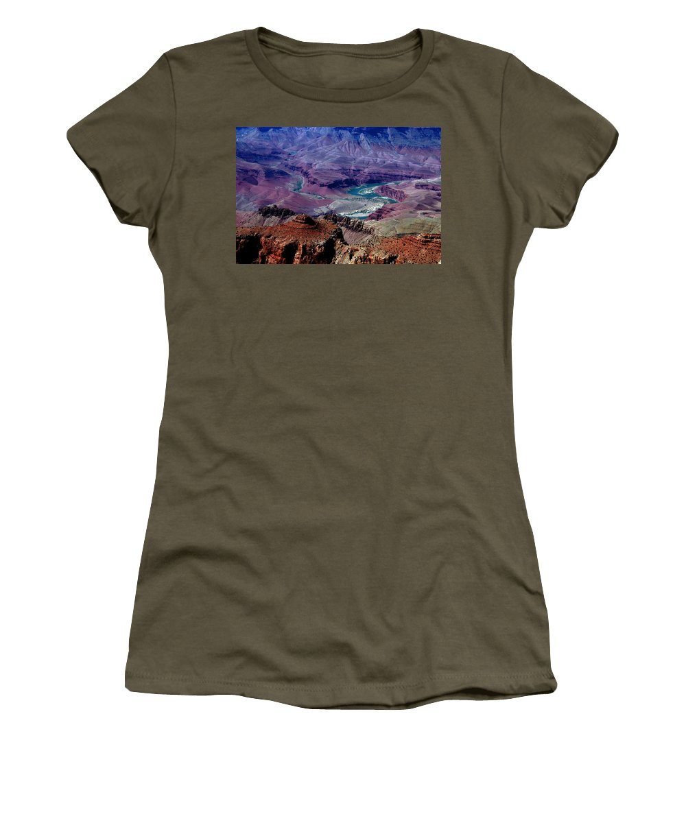 Photography Women's T-Shirt featuring the photograph The Grand Canyon by Susanne Van Hulst