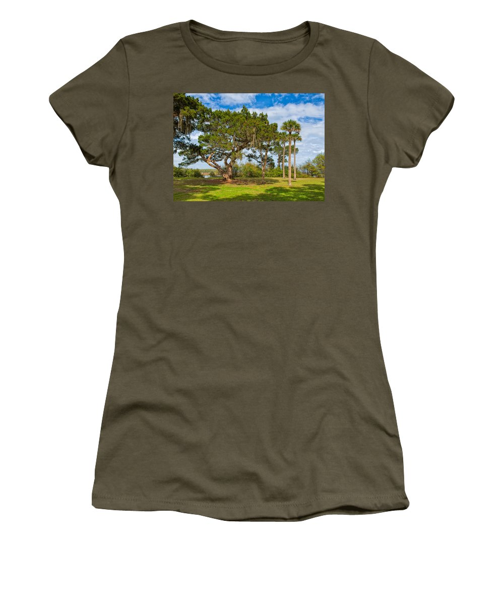 Bailey Women's T-Shirt featuring the photograph The Grounds Of The Kingsley Plantation by John M Bailey