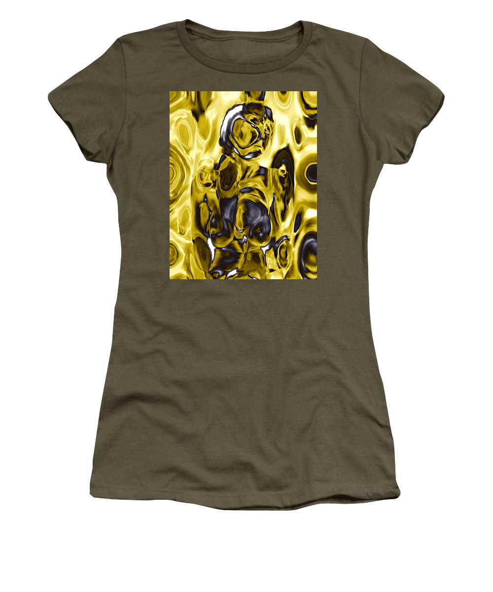 Nudes Women's T-Shirt (Athletic Fit) featuring the photograph The Guardian by Kurt Van Wagner