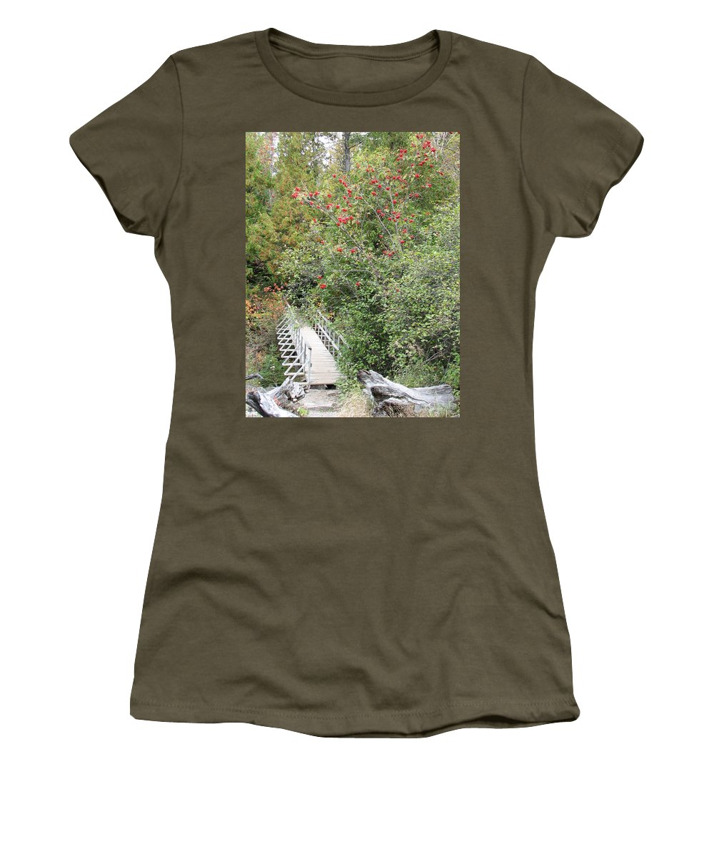 Bridge Women's T-Shirt (Athletic Fit) featuring the photograph The Journey by Kelly Mezzapelle