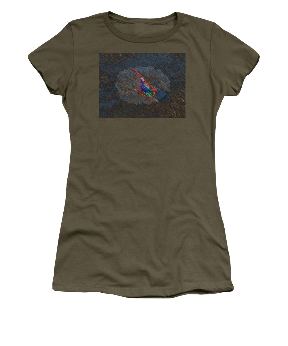 Koi Women's T-Shirt featuring the digital art The Koi Cometh by Tim Allen