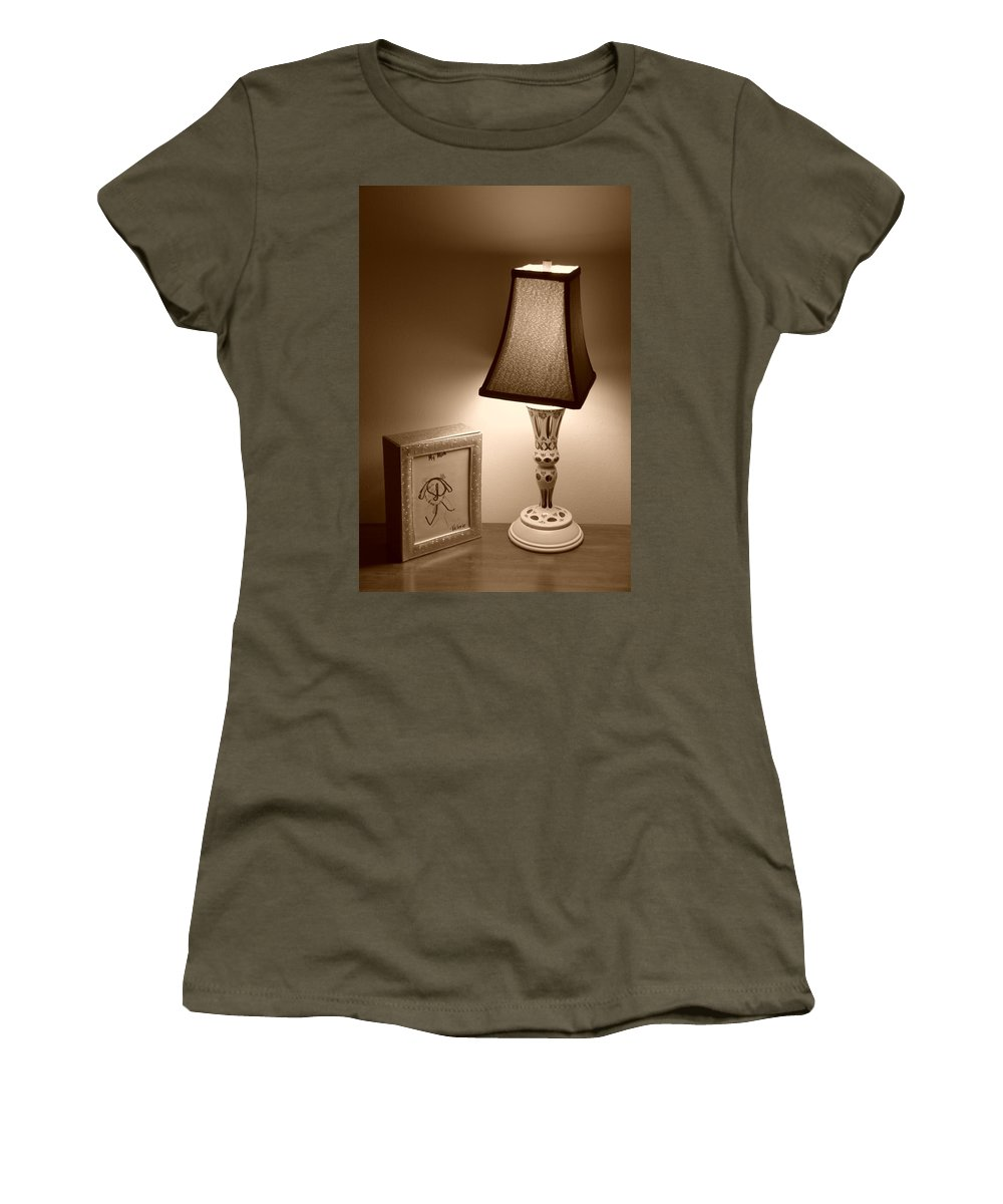 Lights Women's T-Shirt (Athletic Fit) featuring the photograph The Lamp by Rob Hans