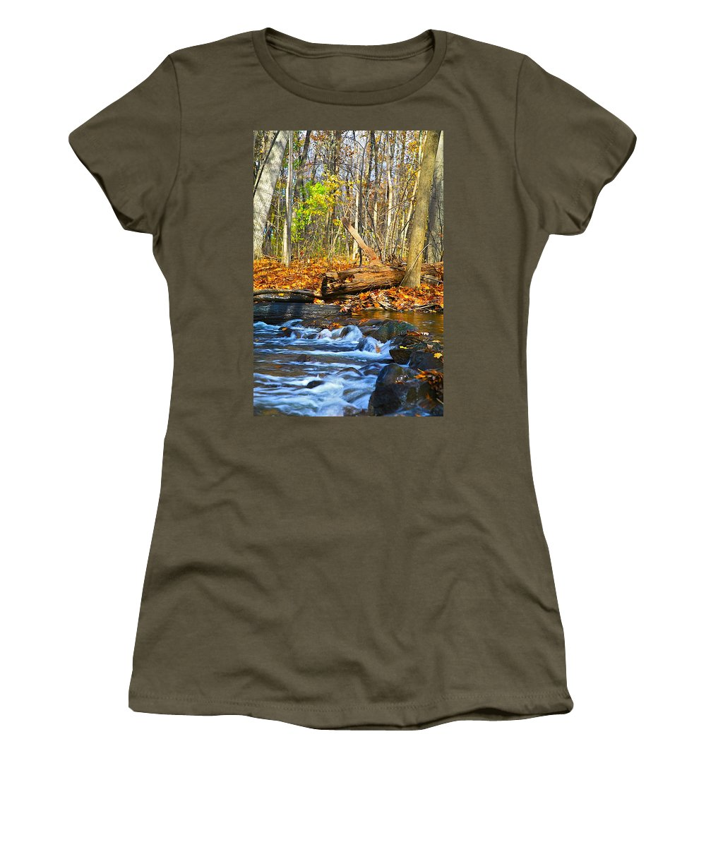 Fall Women's T-Shirt featuring the photograph The Last Of The Fall Color by Robert Pearson