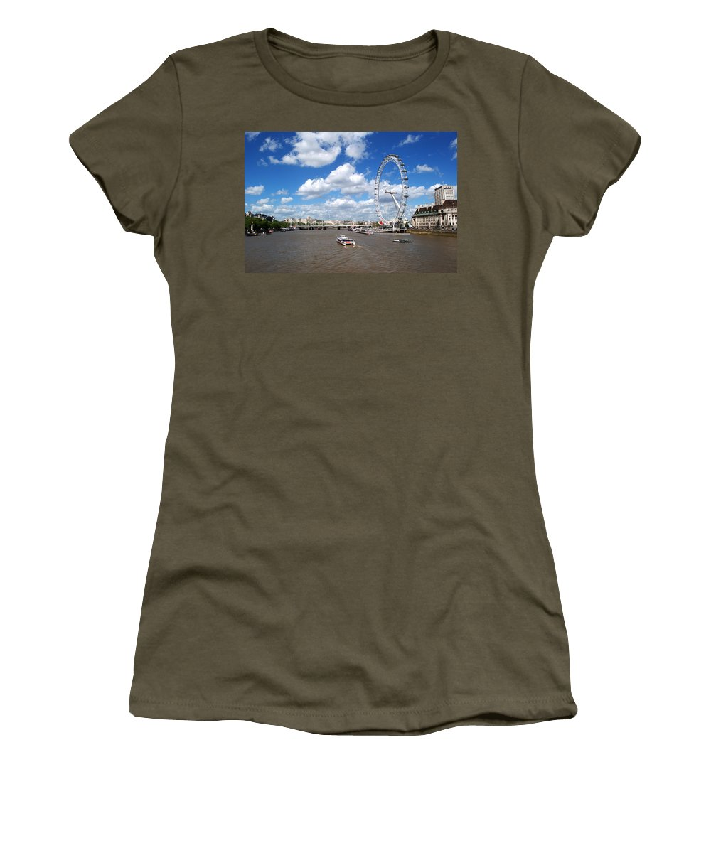 London Eye Women's T-Shirt featuring the photograph The London Eye by Chris Day