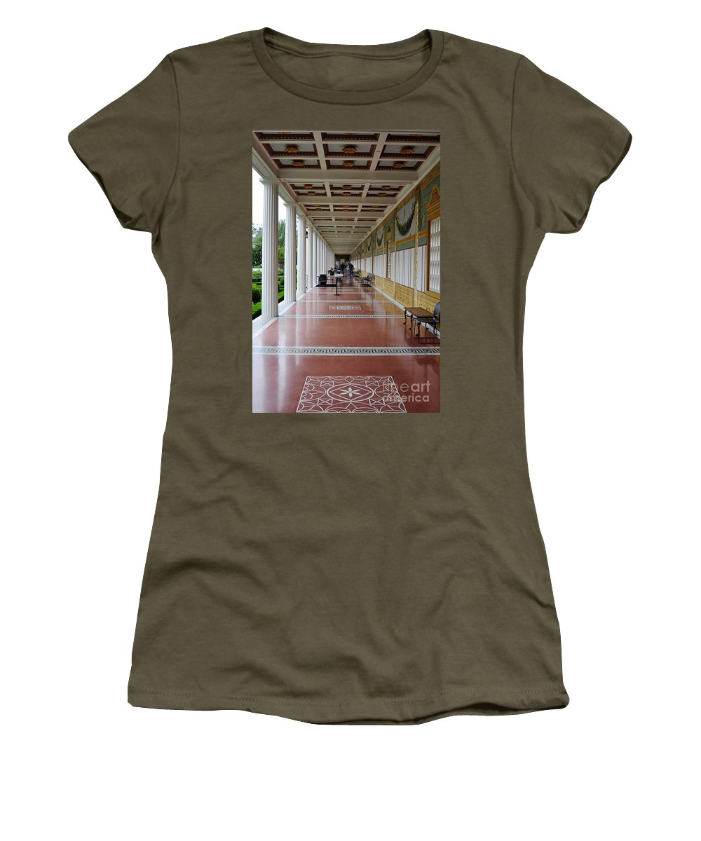 Clay Women's T-Shirt featuring the photograph The Long Walk by Clayton Bruster