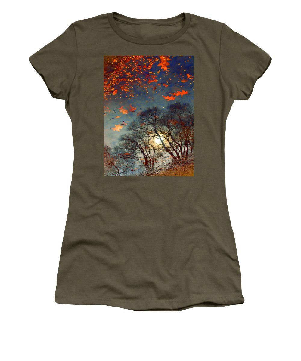 Puddle Women's T-Shirt featuring the photograph The Magic Puddle by Tara Turner