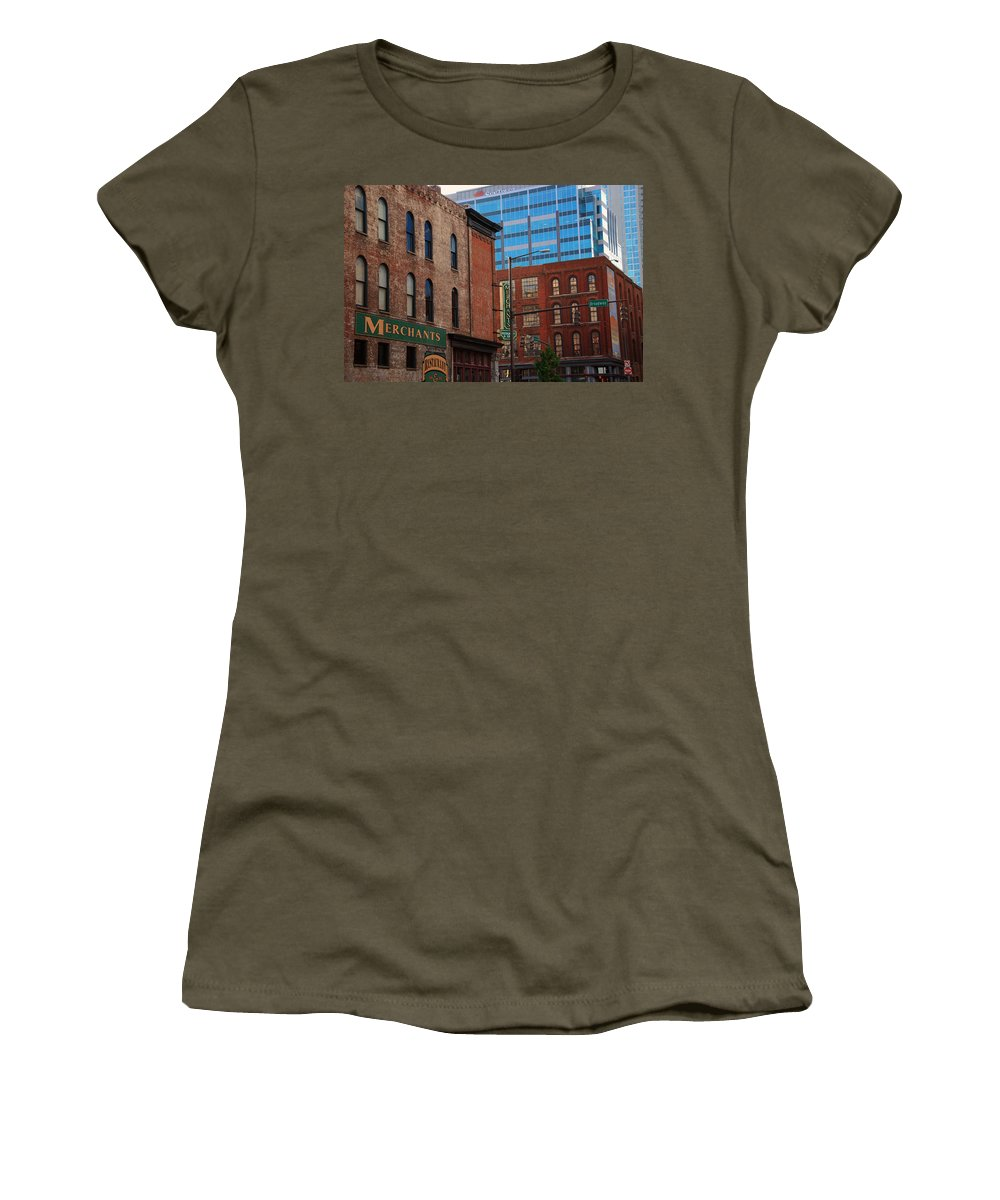 The Merchants Women's T-Shirt featuring the photograph The Merchants Nashville by Susanne Van Hulst