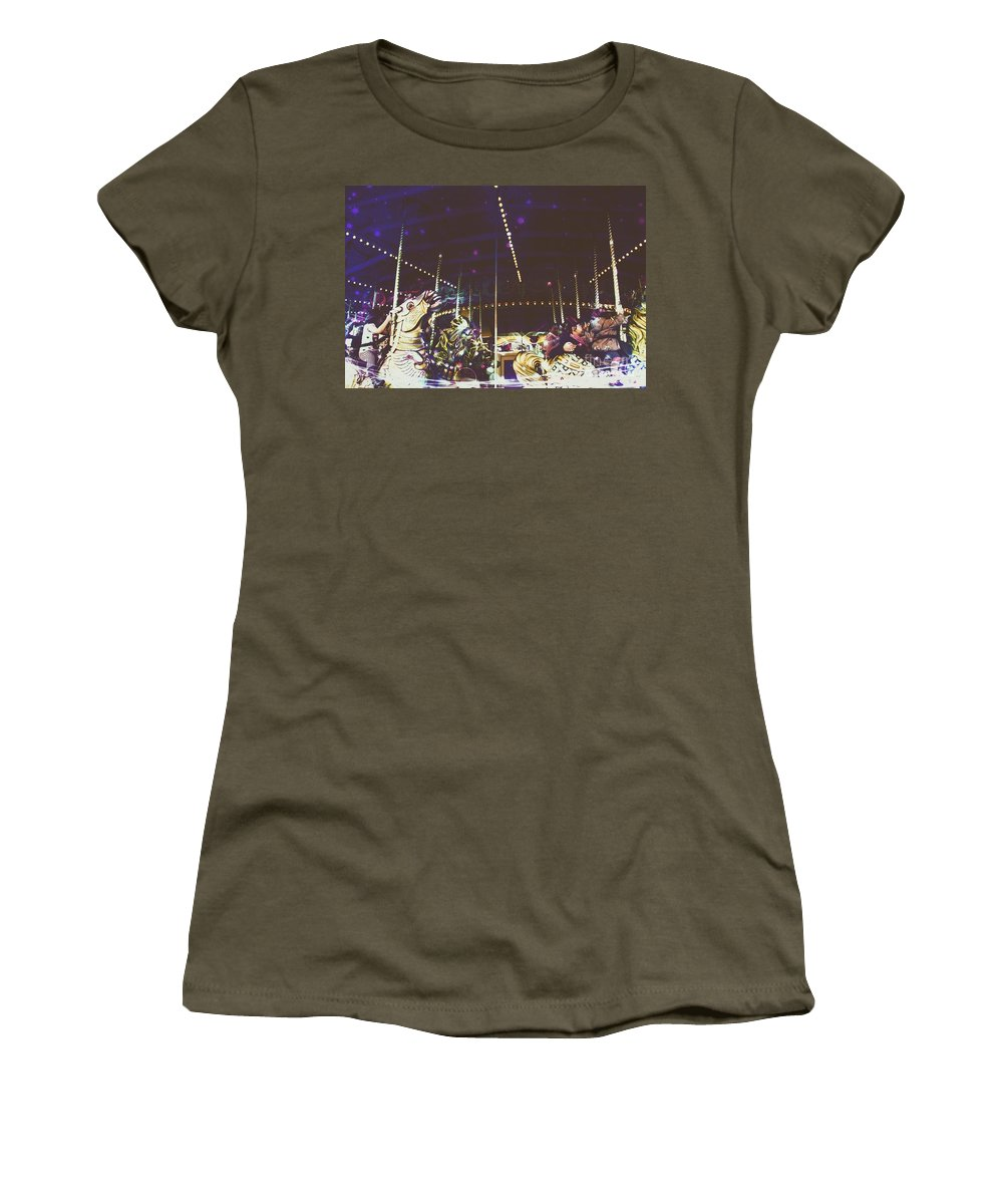Surreal Women's T-Shirt featuring the digital art The Nightmare Carousel 8 by Marina McLain