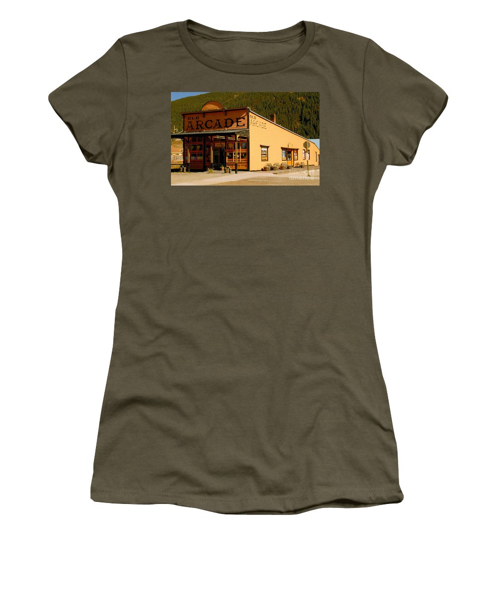 Arcade Women's T-Shirt (Athletic Fit) featuring the photograph The Old Arcade by David Lee Thompson