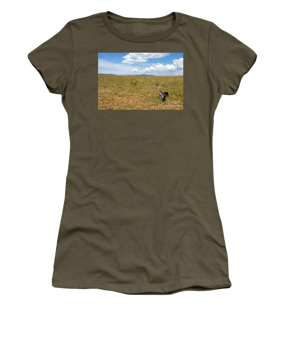 Santa Fe Trail Women's T-Shirt (Athletic Fit) featuring the photograph The Old Santa Fe Trail by David Lee Thompson