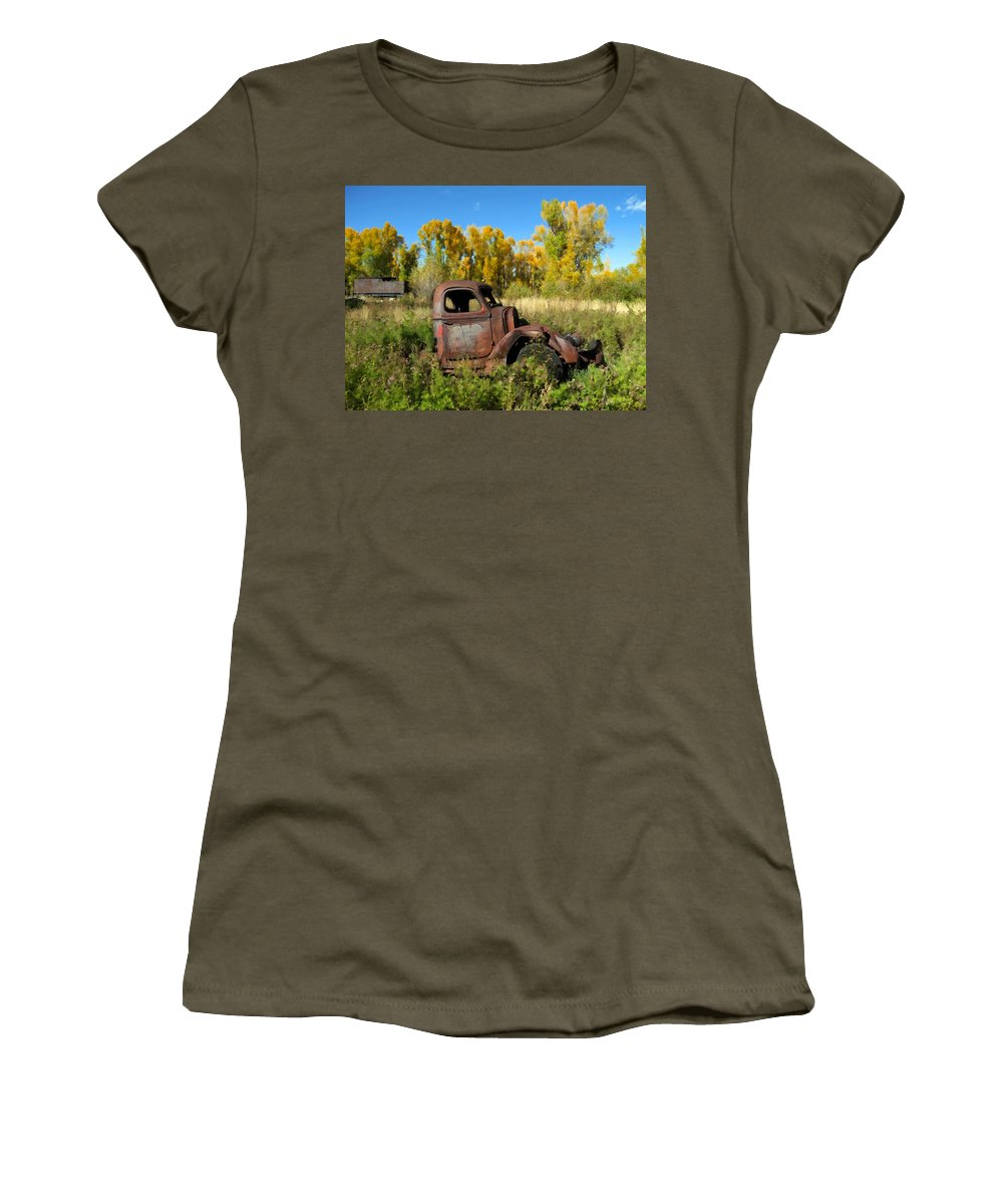 Truck Women's T-Shirt featuring the photograph The Old Truck Chama New Mexico by Kurt Van Wagner