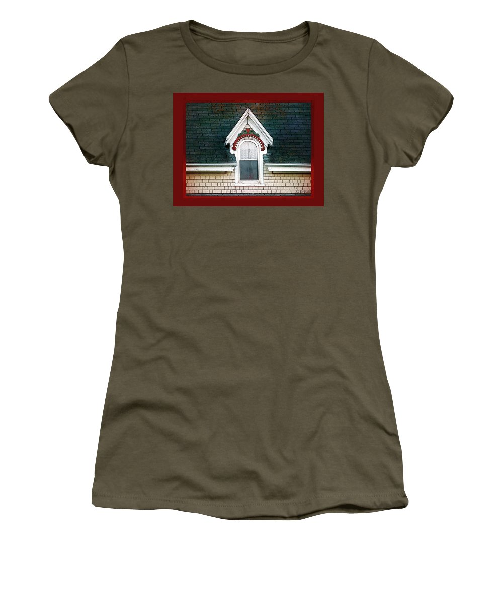 Canada Women's T-Shirt featuring the painting The Ornamented Gable by RC DeWinter