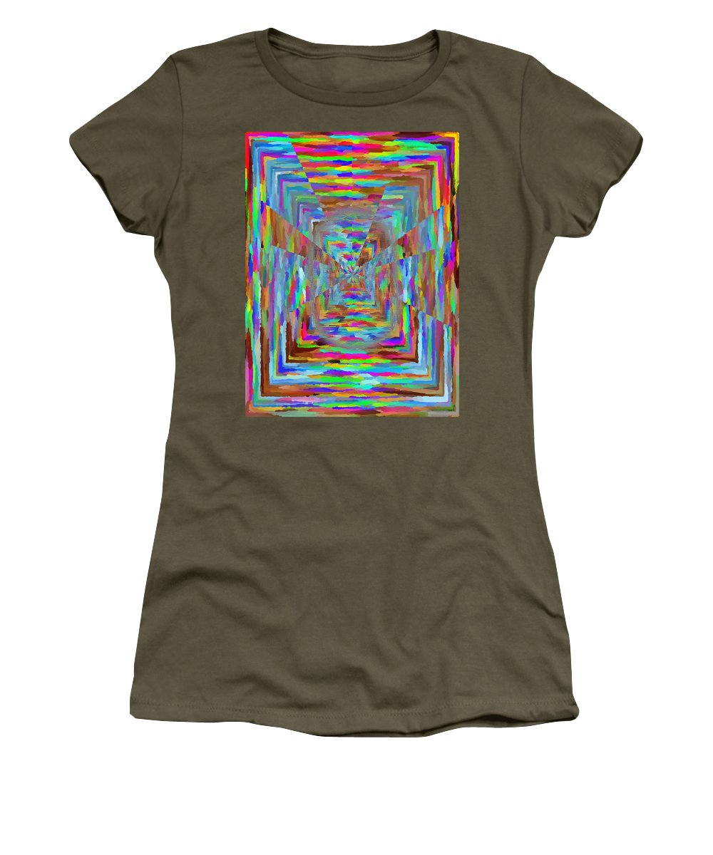 Abstract Women's T-Shirt (Athletic Fit) featuring the digital art The Pathway by Tim Allen