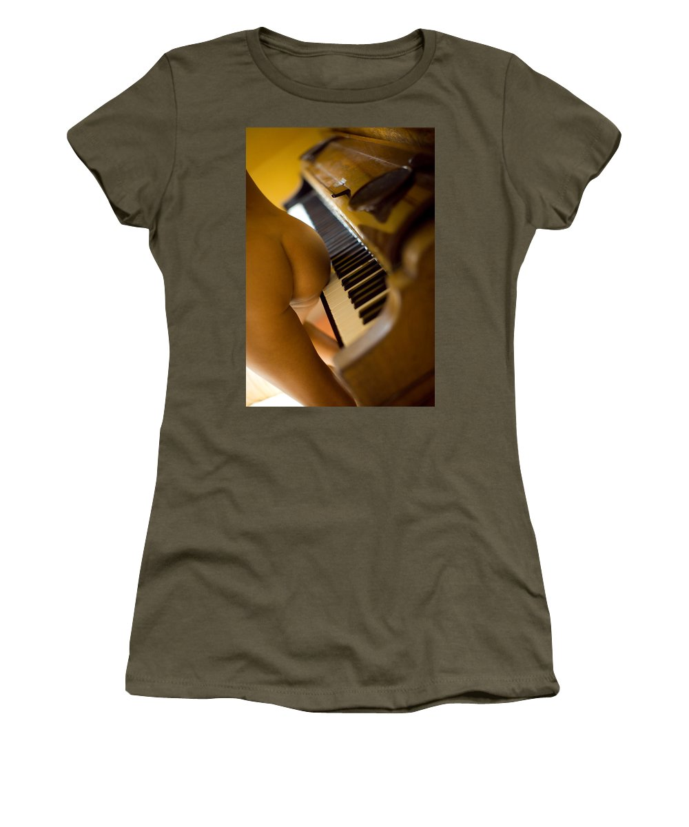 Sensual Women's T-Shirt (Athletic Fit) featuring the photograph The Piano by Olivier De Rycke
