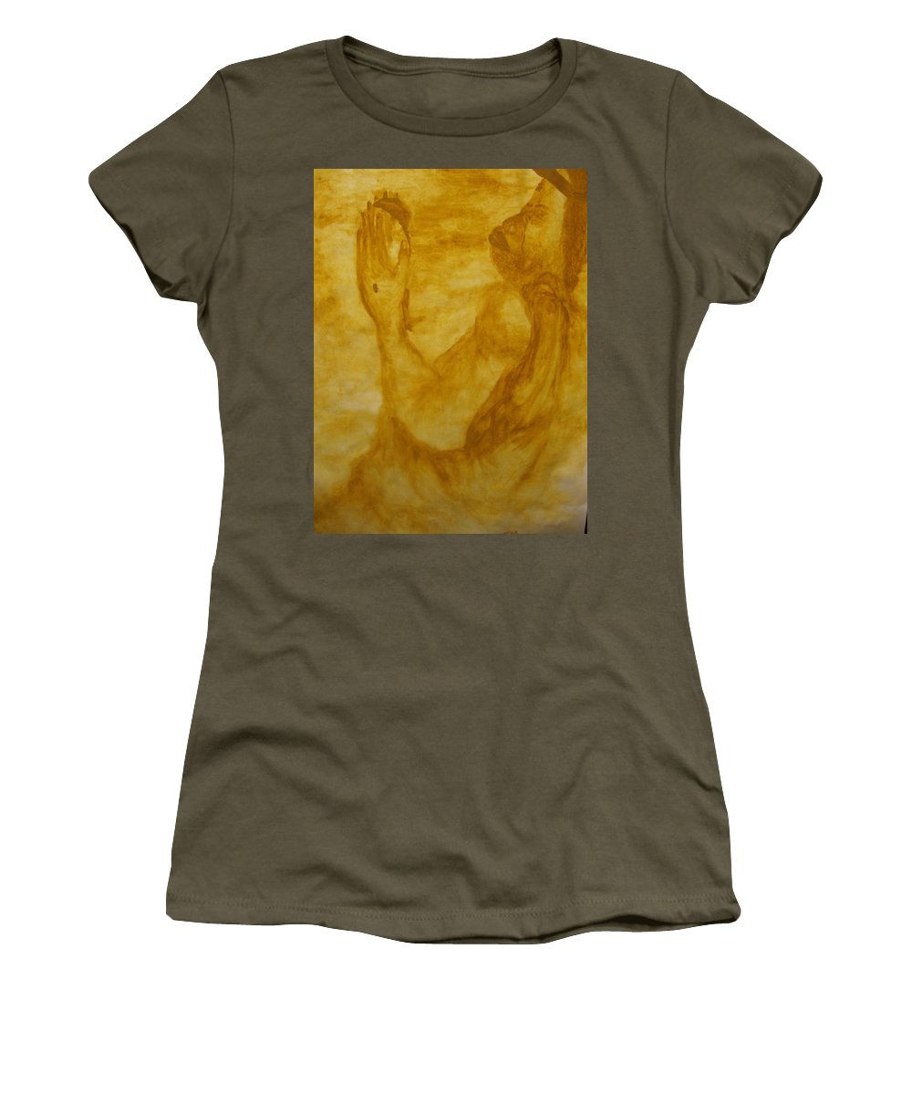 Gloria Ssali Women's T-Shirt featuring the painting The Potter by Gloria Ssali
