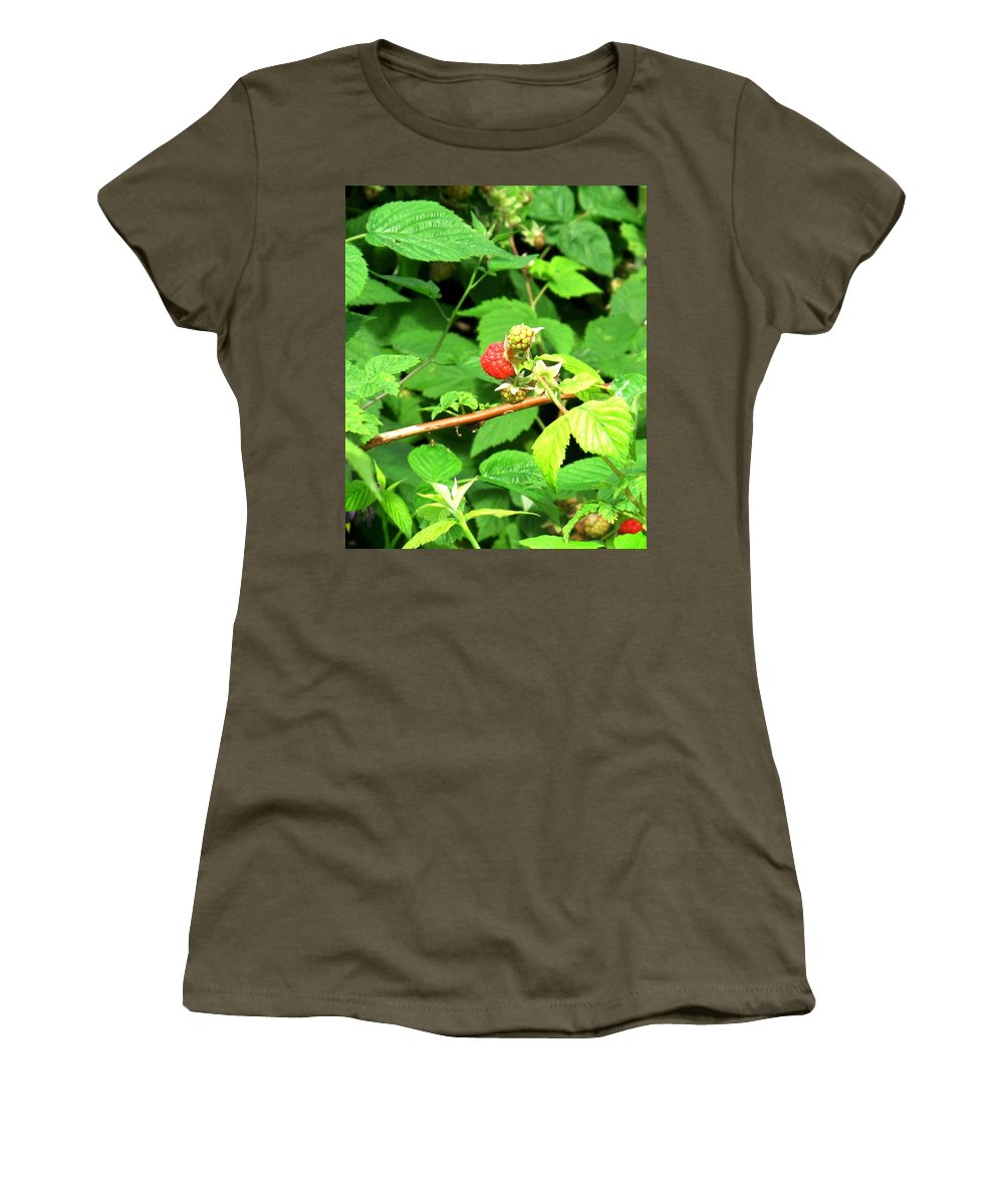 Rasberry Women's T-Shirt featuring the photograph The Rasberry Patch by Ian MacDonald