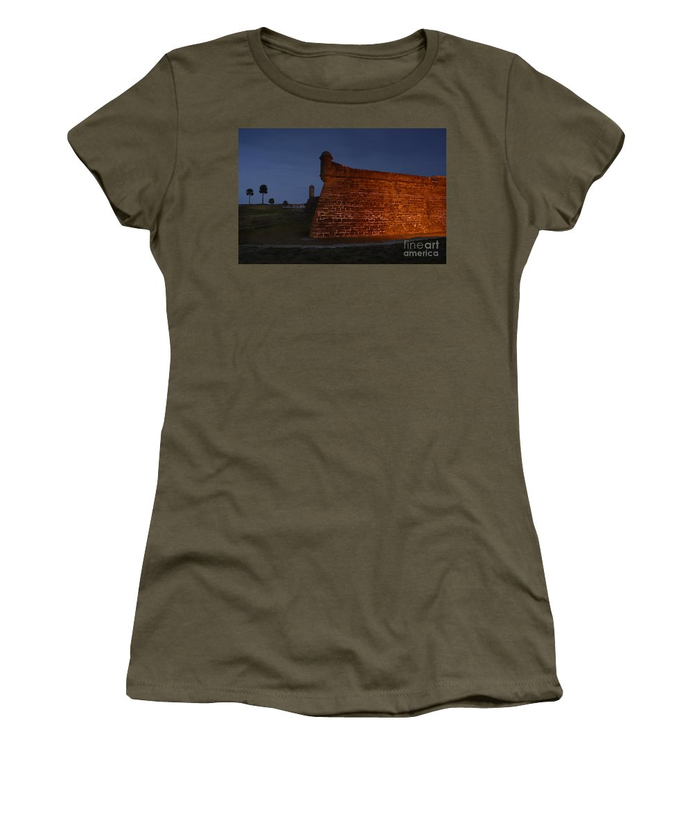 Castillo Women's T-Shirt featuring the photograph The Red Castillo by David Lee Thompson