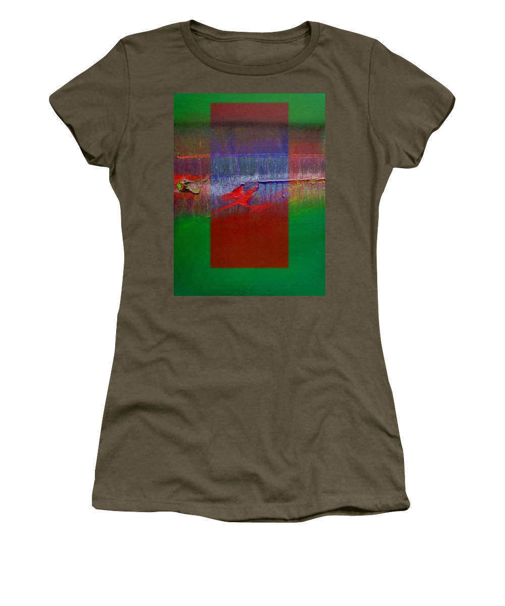 Landscape Women's T-Shirt (Athletic Fit) featuring the painting The Red Dragon Tatoo by Charles Stuart