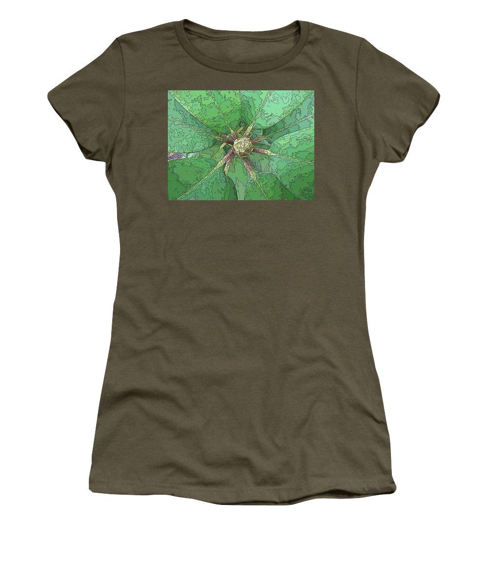 Flower Women's T-Shirt featuring the digital art The Rhody Bud by Tim Allen