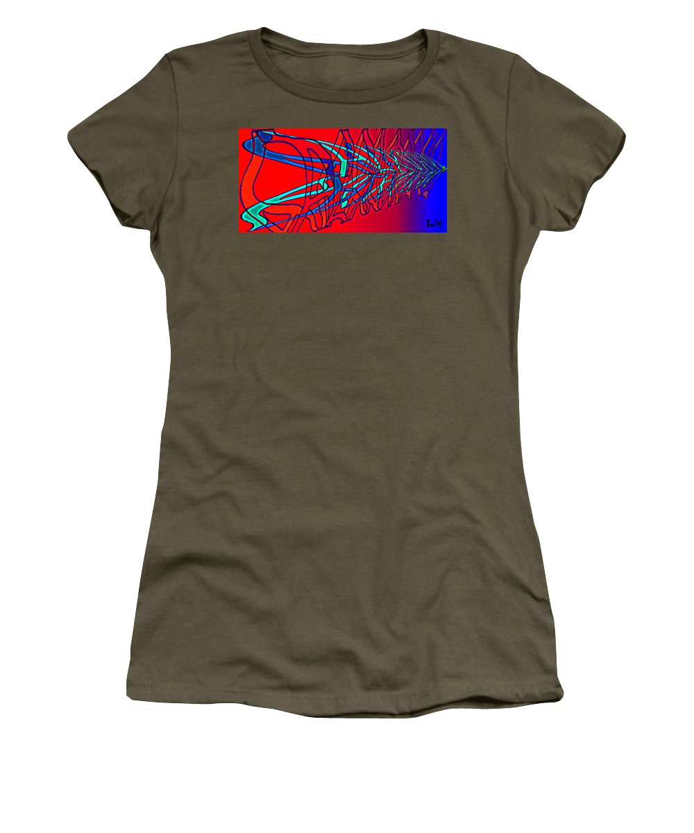 C2 Women's T-Shirt (Athletic Fit) featuring the digital art The Risc Of Alcohol by Helmut Rottler