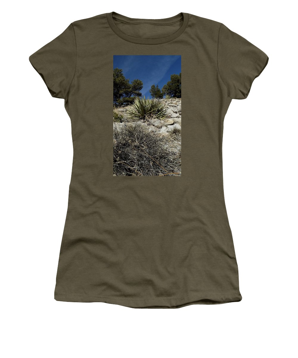 Color Photography Women's T-Shirt (Athletic Fit) featuring the photograph The Rising Land by Kirk Griffith