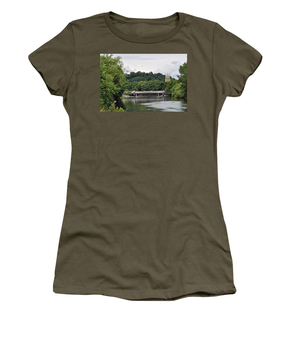 Europe Women's T-Shirt featuring the photograph The River And Bridges At Burton On Trent by Rod Johnson