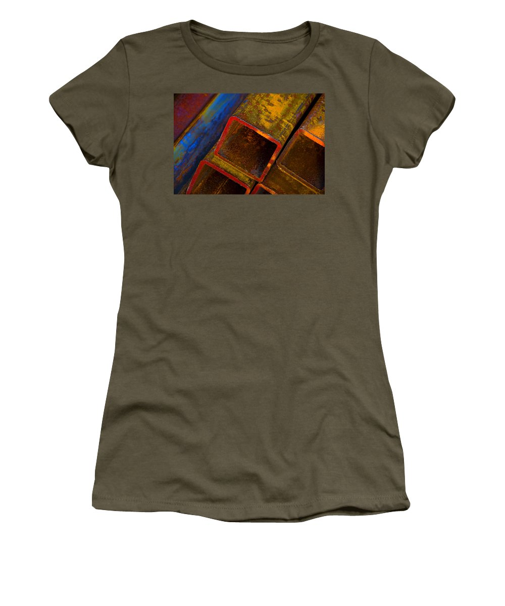 Abstract Women's T-Shirt (Athletic Fit) featuring the photograph The River by Skip Hunt