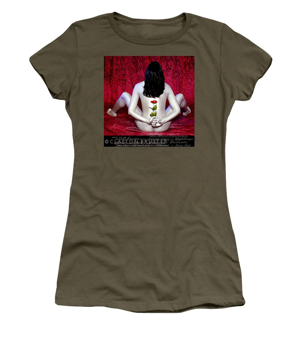 Clay Women's T-Shirt featuring the photograph The Rose by Clayton Bruster