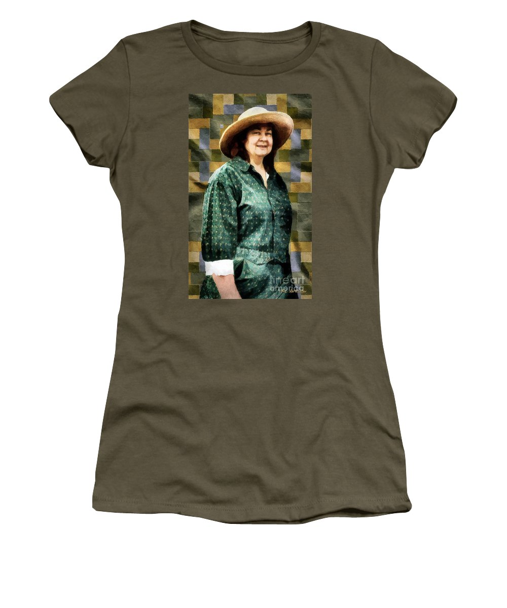 Artisan Women's T-Shirt featuring the painting The Rugmaker by RC DeWinter