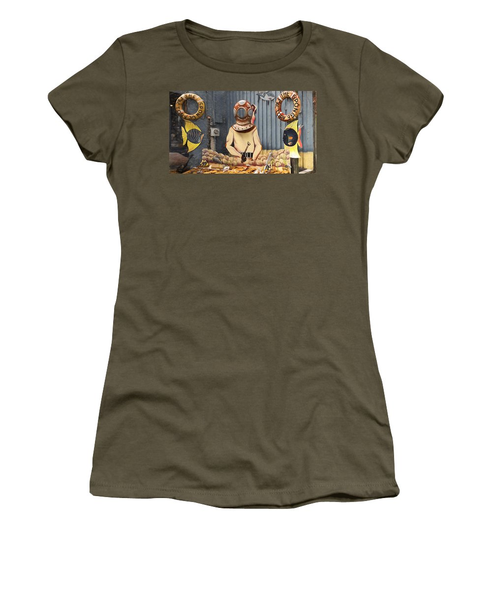 The Sponge Factory Women's T-Shirt (Athletic Fit) featuring the photograph The Sponge Factory by L Wright