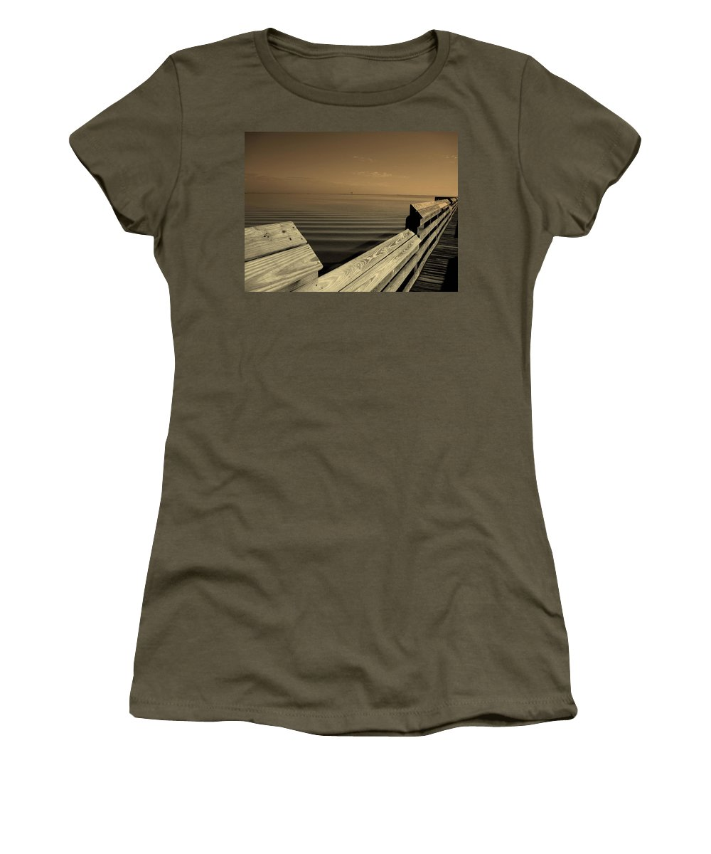 Pier Women's T-Shirt featuring the photograph The Spot by Susanne Van Hulst
